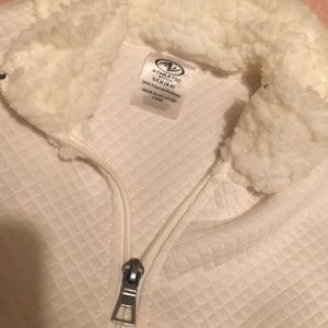 Athletic Works Tops - White Sherpa pullover